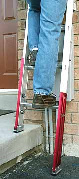 Extenda-Leg ® ladder leveler made by Ribezzo Systems